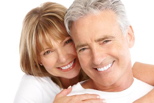 Happy seniors couple in love