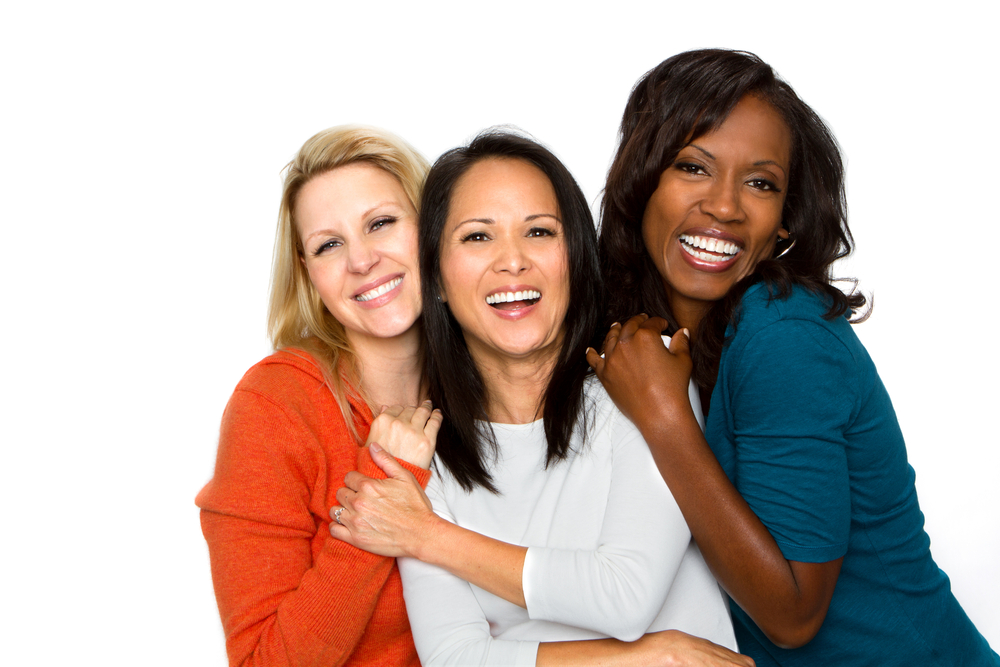 Group of Three Friends Smiling