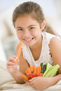 A healthy diet will protect yours and your child's oral health.